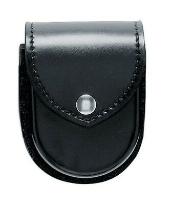 Safariland 190-2-2 Black Plain Chrome Snap Top Flap Chain Handcuff Pouch