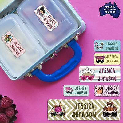 LOL Suprise Dolls Personalised Name Label for Kids, dishwashable, microwaveable
