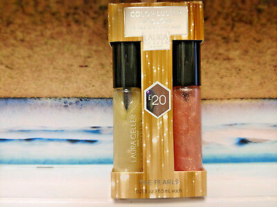 Laura Geller Color Luster Lip Gloss Duo THE PEARLS (Gilded Honey & City lights)