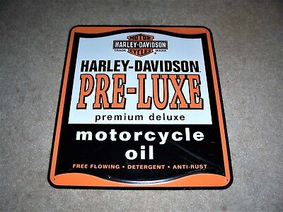 Harley Davidson Pre-Luxe Motorcycle Oil Metal Tin Sign New
