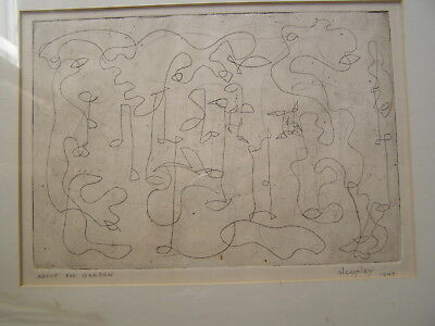 Alcopley Alfred Lewin Copley Listed Artist Original Abstract Etching Signed 1947