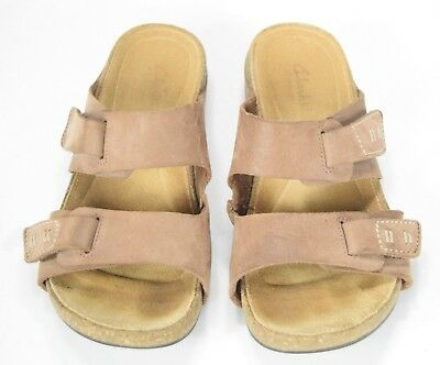 e5e3b53907c9 Clarks Artisan Perri Island Double Strap Sandals Women s Brown Leather Size  7M