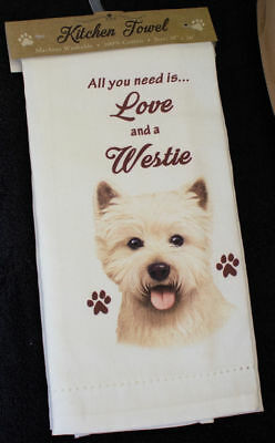 West Highland Terrier Westie Dog Breed Cotton Kitchen Dish Towel