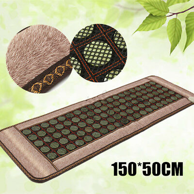 Infrared Heating Mat Mattress Relax Body Natural Jade Tourmaline Massage Stone