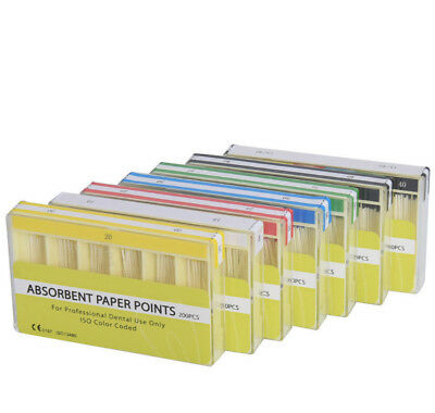 Dental Endodontic Root Canal Absorbent Paper Points Sterile 7 Sizes All Type