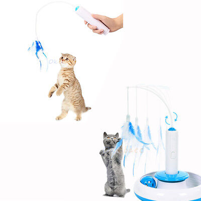 ABS Electric Sports Pet Kitten Toys Rotated best interactive cat feathers toys