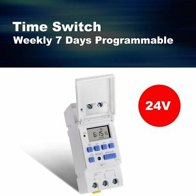 SINOTIMER 24V Weekly 7 Days Programmable Digital Timer Switch Relay Control TY