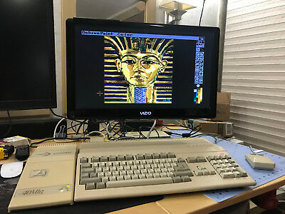 Ultimate Vintage Amiga 500 computer 1m chip 8m fast 40mhz 68030 and hard drive