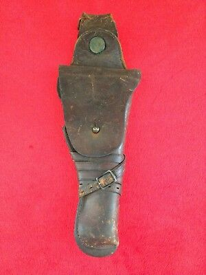 WW1 Calvary Leather M1912 Holster for US 1911 Colt .45 Pistol 1914 RIA