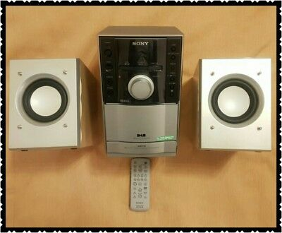 Stylish & Compact Dab Radio, Cassette & Cd Player, Sony Cmt - Eh20Dab + Remote