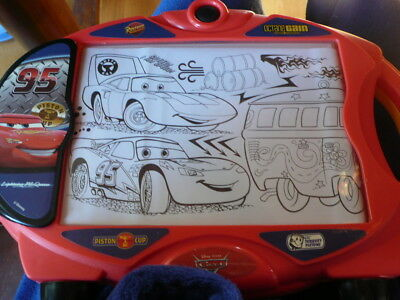 Lightning Mcqueen Light Up Drawing Tracer Box.  Trace / Draw 50 Cars Items