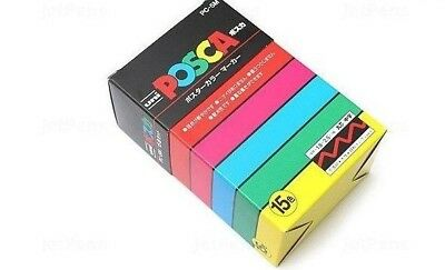 Uni POSCA PC5M Paint Marker Pen - Medium Point - Set of 15  *Delivered from UK!*