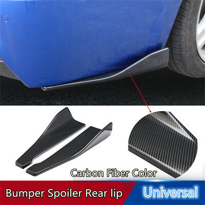 NEW 2Pcs Universal Car Bumper Spoiler Rear Lip Canard Diffuser Body Side Skirts