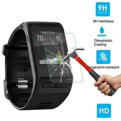 2PC 9H+ Tempered Glass Screen Protector Protective Film For Garmin Vivoactive HR