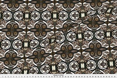 Steampunk Industrial Waste Fabric Printed by Spoonflower BTY
