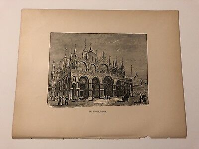 Antique c1892 Print St. Marks Basilica Venice Italy #121318