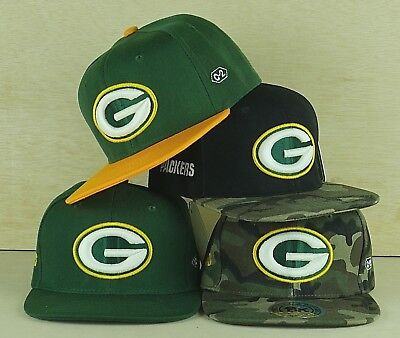4dab9114e54 Green Bay Packers Glow In The Dark Snapback Embroidered Flat Bill NFL Cap  Hat