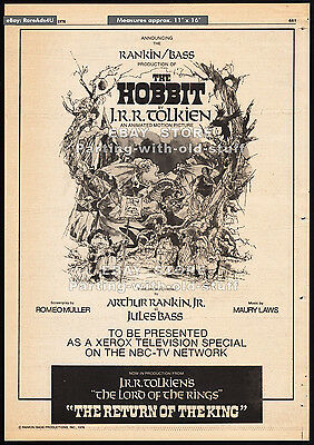 THE HOBBIT__Original 1976 Trade AD promo / poster__THE RETURN OF THE KING__1977