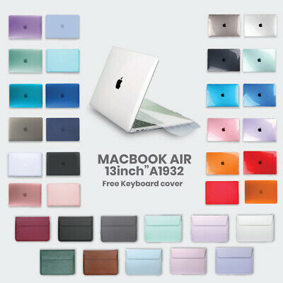 "For 2018 MacBook Air 13"" A1932 Transparent Clear Hard Case Shell Keyboard Cover"