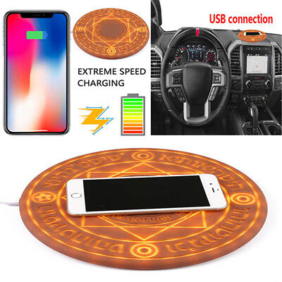 Glowing Magic Array Qi Wireless Fast Charger 10W for IPhone8 X XS/Samsung /Note