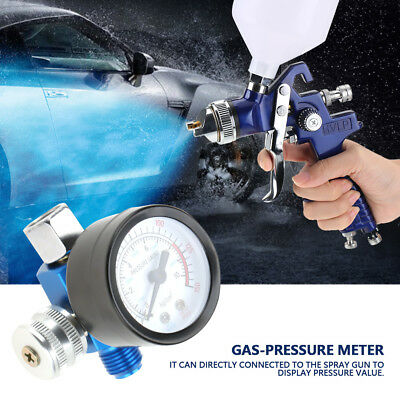 "1/4"" Spray Paint Gun Air Pressure Regulator Pressure Gauge Pneumatic Tool HP"