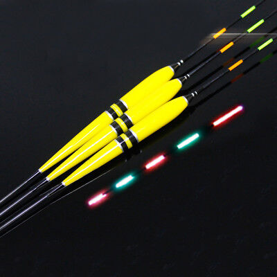 LED Light Luminous Electronic Light Float Bobber Tackle with A Battery Yellow