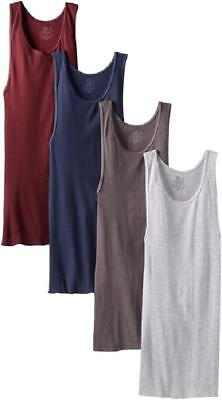 4 Pack Fruit Of The Loom Men'S Cotton Tank Top A-Shirt Assorted 3X-Large Big New