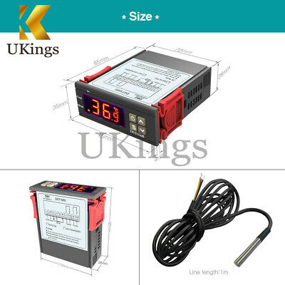 DC12-72V DST1000 Temperature Controller DS18B20 Replace STC1000 Thermostat