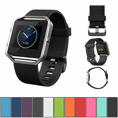 Replacement Silicone Gel Band Strap Bracelet Wristband for FITBIT BLAZE Watch AU