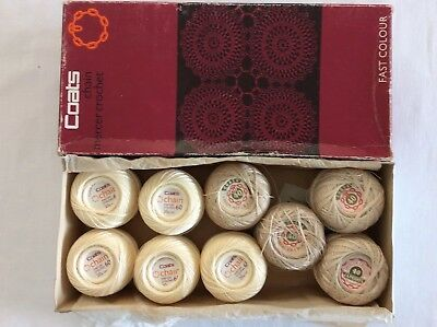 Vintage Boxed Coats Mercer Crochet Thread x 9