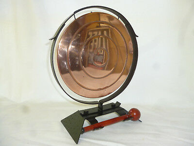 ART DECO LARGE DINNER GONG with WOODEN MALLET - great looking vintage item