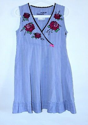 SALE! Odd Molly Cotton Embroidered Sleeveless Tunic Dress Roses Pattern Size 1/S
