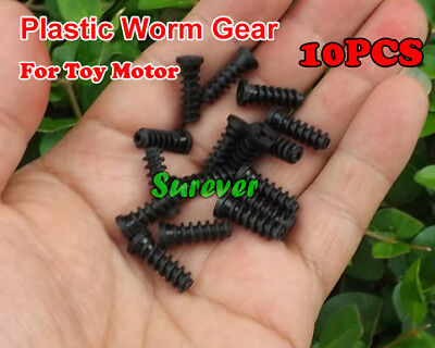 10PCS Plastic Worm Gear 2mm Aperture For Toy Motor For 2mm Shaft
