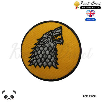 Game Of Thrones Stark Embroidered Iron On Sew On PatchBadge For Clothes etc