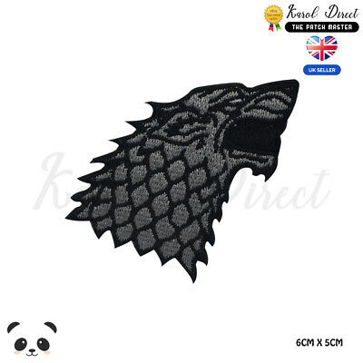 Game Of Thrones Stark Dare wolf Embroidered Iron On Sew On PatchBadge