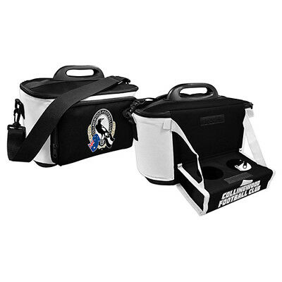 Collingwood Magpies AFL Lunch Box Cooler Bag With Drink Tray Insulated Footy