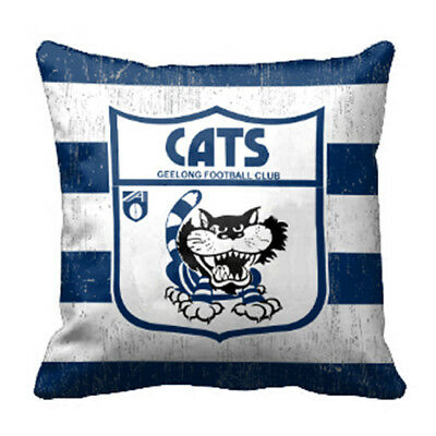 Geelong Cats AFL Team 43cm Cushion BNWT Official Footy Home Bedroom