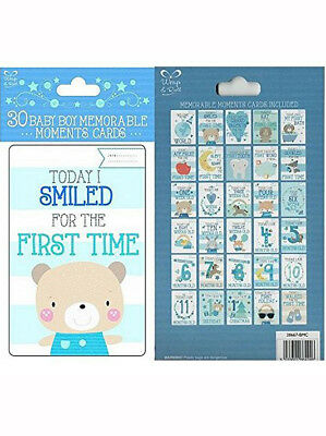 Baby Boy Memorable Moments Cards New Baby Shower Baby's First Special Keepsake