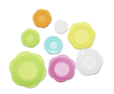 Kuhn Rikon 8PC Stretchi Silicone Lids for Cans/Jars/Pots & More