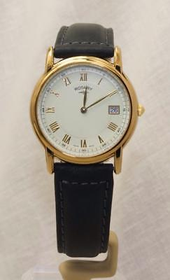 Rotary GS00713/01 Gold Plated Stainless Steel Leather Strap Watch Date RRP£110