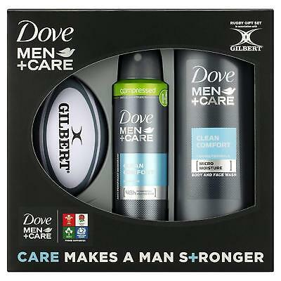 Dove Men +Care Rugby Gift Set Deodorant, Body & Face Wash & Ball DAMAGE TO BOX