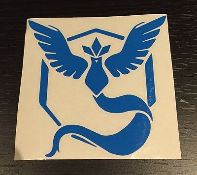 POKEMON GO TEAM Mystic logo Sticker Decal Vinyl Car Laptop 50mm x 50mm ipad