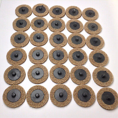 """30 Pack - 2"""" Surface Conditioning Discs Coarse Tan Quick Change Prep Pads"""