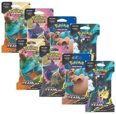8 x Pokemon Team Up Sun & Moon Factory Sealed Sleeved Booster Packs