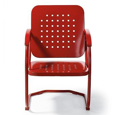 Vintage Collection Outdoor Metal Patio Chair Arm Chair Furniture Red