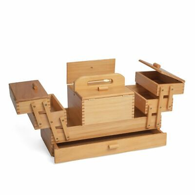 Wood Cantilever Sewing Box: 4 Tier