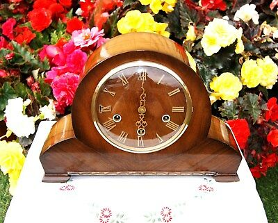 Smiths Antique Art Deco Westminster Chiming  Mantel Clock, 1957. Outstanding!