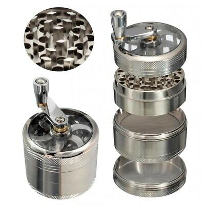 Tobacco Cutter Grinder Hand Muller Shredder Smoking Case Hand Crank Crusher