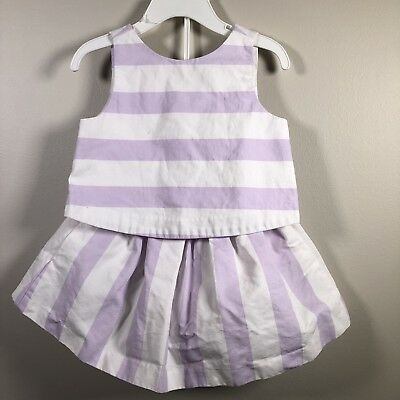 Janie & Jack Toddler Girl Top Sz 18-24 months Skirt Sz 12-18 Sleeveless Bow Back