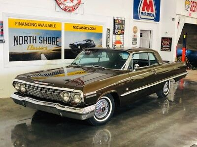 1963 Impala -SS BUCKETS RESTORED NUMBERS MATCH 327 4 SPEED-MIN Chevrolet Impala Cardovan Brown with 90,182 Miles, for sale!
